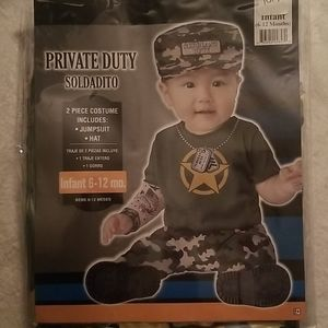 PRIVATE DUTY MILITARY NWOT INFANT 6-12 MONTHS